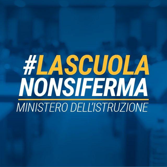 LaScuolaNonSiFerma didattica a distanza Ministero Istruzione